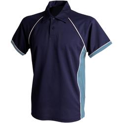 Abbigliamento Bambino Polo maniche corte Finden & Hales LV372 Blu navy/Cielo/Bianco