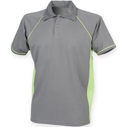 Abbigliamento Uomo Polo maniche corte Finden & Hales Piped Grigio/Verde Lime