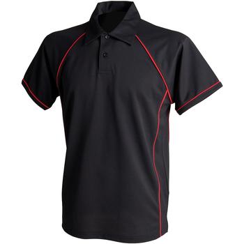 Abbigliamento Unisex bambino Polo maniche corte Finden & Hales LV372 Nero/Rosso
