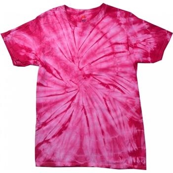 Abbigliamento Unisex bambino T-shirt maniche corte Colortone Spider Rosa