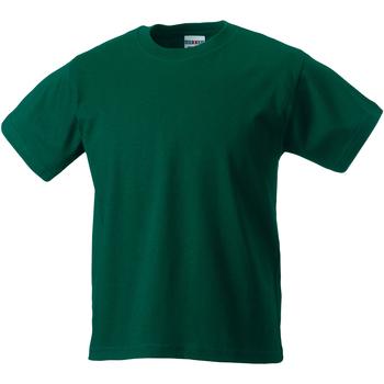 Abbigliamento Unisex bambino T-shirt maniche corte Jerzees Schoolgear ZT180B Verde bottiglia