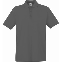 Abbigliamento Uomo Polo maniche corte Fruit Of The Loom 63218 Grafite chiara