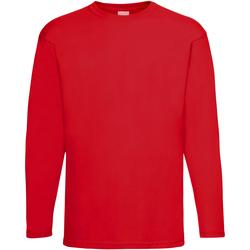 Abbigliamento Uomo T-shirts a maniche lunghe Universal Textiles 61038 Rosso brillante