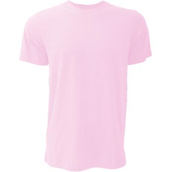 Abbigliamento Uomo T-shirt maniche corte Bella + Canvas CA3001 Rosa Lieve