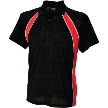 Abbigliamento Uomo Polo maniche corte Finden & Hales LV350 Nero/Rosso/Bianco