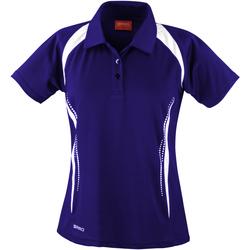 Abbigliamento Donna Polo maniche corte Spiro S177F Blu navy/Bianco