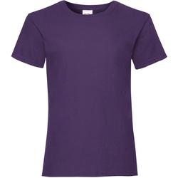 Abbigliamento Bambina T-shirt maniche corte Fruit Of The Loom Valueweight Viola
