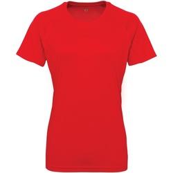 Abbigliamento Donna T-shirt maniche corte Tridri Panelled Rosso Fuoco