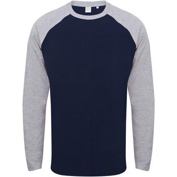 Abbigliamento Uomo T-shirts a maniche lunghe Skinni Fit SF271 Blu Oxford/Erica grigia