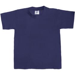 Abbigliamento Unisex bambino T-shirt maniche corte B And C TK301 Blu navy