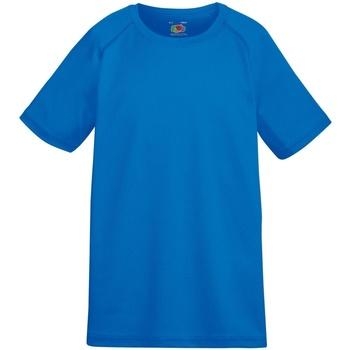 Abbigliamento Unisex bambino T-shirt maniche corte Fruit Of The Loom 61013 Blu reale
