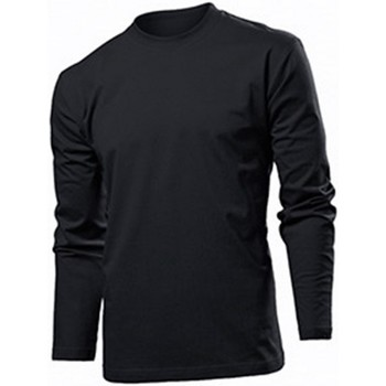 Abbigliamento Uomo T-shirts a maniche lunghe Stedman  Nero