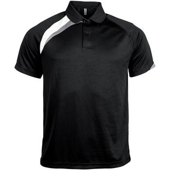 Abbigliamento Uomo Polo maniche corte Kariban Proact PA457 Nero/Bianco/Grigio Tempesta
