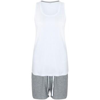 Abbigliamento Donna Pigiami / camicie da notte Towel City TC052 Bianco/Grigio