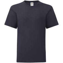Abbigliamento Unisex bambino T-shirt maniche corte Fruit Of The Loom 61023 Blu scuro