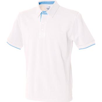 Abbigliamento Uomo Polo maniche corte Front Row FR200 Bianco/Cielo