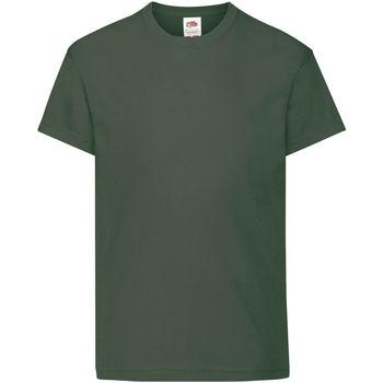 Abbigliamento Unisex bambino T-shirt maniche corte Fruit Of The Loom 61019 Verde bottiglia