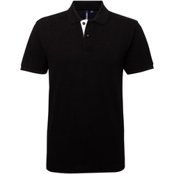 Abbigliamento Uomo Polo maniche corte Asquith & Fox AQ012 Nero/Bianco