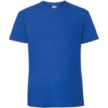 Abbigliamento Uomo T-shirt maniche corte Fruit Of The Loom 61422 Blu reale