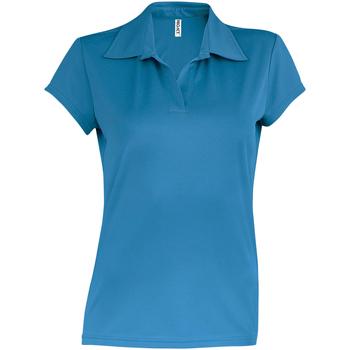 Abbigliamento Donna Polo maniche corte Kariban Proact PA483 Acqua