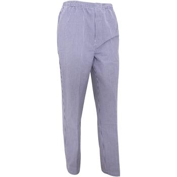 Abbigliamento Uomo Pantaloni morbidi / Pantaloni alla zuava Premier PR552 Blu navy/Scacchi bianchi