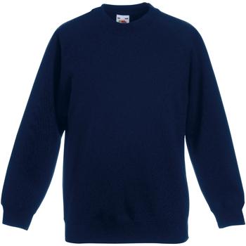 Abbigliamento Unisex bambino Felpe Fruit Of The Loom 62039 Blu scuro