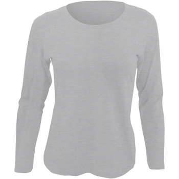 Abbigliamento Donna T-shirts a maniche lunghe Sols Majestic Grigio screziato