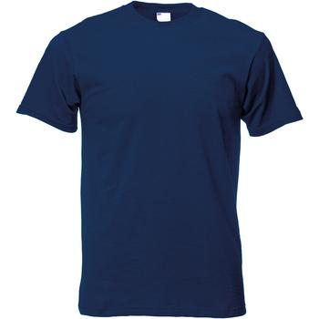 Abbigliamento Uomo T-shirt maniche corte Universal Textiles 61082 Blu navy
