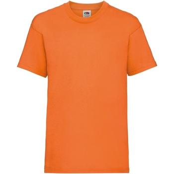 Abbigliamento Unisex bambino T-shirt maniche corte Fruit Of The Loom 61033 Arancio