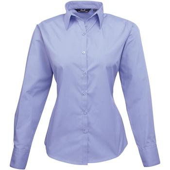 Abbigliamento Donna Camicie Premier PR300 Blu Medio