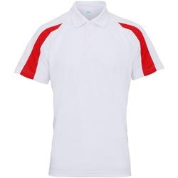 Abbigliamento Uomo Polo maniche corte Awdis JC043 Bianco Artico/Rosso Fuoco