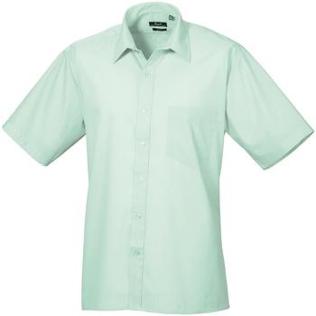 Abbigliamento Uomo Camicie maniche corte Premier PR202 Verde acqua