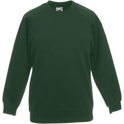 Abbigliamento Unisex bambino Felpe Fruit Of The Loom 62039 Verde bottiglia