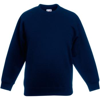 Abbigliamento Unisex bambino Felpe Fruit Of The Loom 62031 Blu scuro