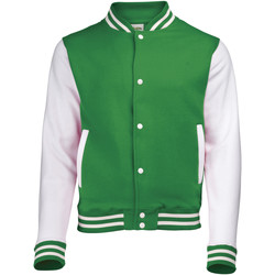 Abbigliamento Unisex bambino Giubbotti Awdis JH43J Verde kelly/Bianco