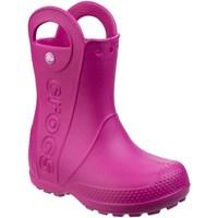 Scarpe Unisex bambino Stivali da pioggia Crocs  Rosa confetto