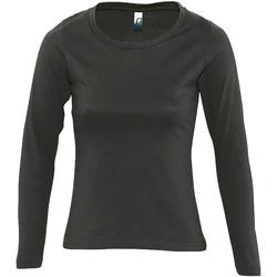Abbigliamento Donna T-shirts a maniche lunghe Sols Majestic Grigio scuro