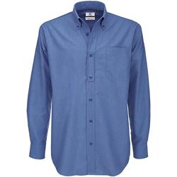 Abbigliamento Uomo Camicie maniche lunghe B And C SMO01 Blu