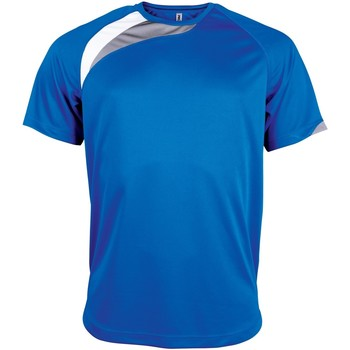 Abbigliamento Uomo T-shirt maniche corte Kariban Proact PA436 Blu Reale/Bianco/Grigio