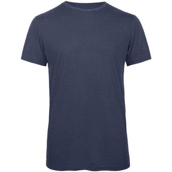 Abbigliamento Uomo T-shirt maniche corte B And C TM055 Blu navy screziato