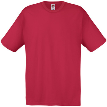 Abbigliamento Uomo T-shirt maniche corte Universal Textiles 61082 Rosso scuro