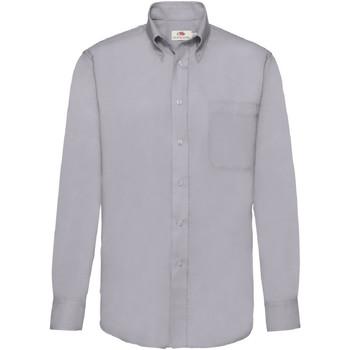 Abbigliamento Uomo Camicie maniche lunghe Fruit Of The Loom 65114 Grigio oxford