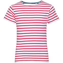 Abbigliamento Unisex bambino T-shirt maniche corte Sols 01400 Bianco/Rosso