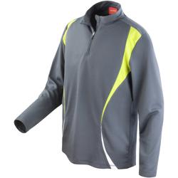 Abbigliamento Donna Felpe Spiro S178X Carbone/Lime/Bianco