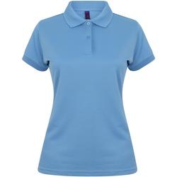 Abbigliamento Donna Polo maniche corte Henbury Coolplus Blu Medio