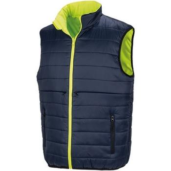 Abbigliamento Uomo Gilet / Cardigan Result R332X Giallo fluo/Blu navy