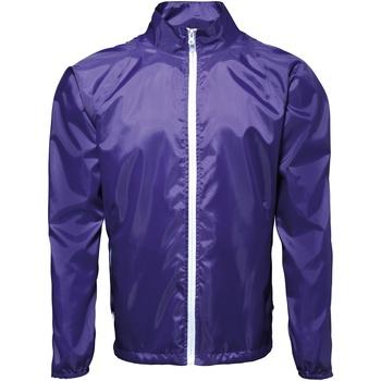 Abbigliamento Uomo giacca a vento 2786  Viola/Bianco