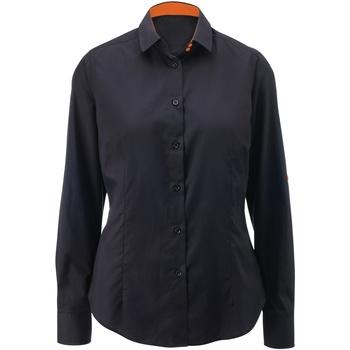 Abbigliamento Donna Camicie Alexandra AX060 Nero/Arancio