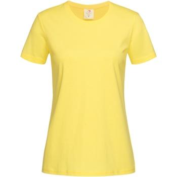 Abbigliamento Donna T-shirt maniche corte Stedman  Giallo