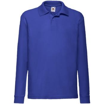 Abbigliamento Bambino Camicie maniche lunghe Fruit Of The Loom 63201 Blu reale